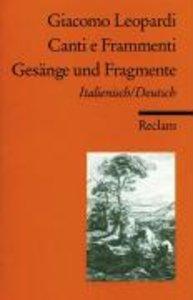 Gesänge und Fragmente / Canti e Frammenti