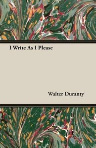 I Write As I Please