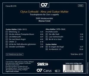 Transkriptionen für Chor a cappella