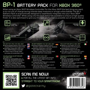 BP-1 Rechargeable Battery Pack für XBox 360