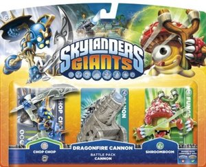 Skylanders: Giants - Battle Pack Cannon - CHOPCHOP, DRAGONFIRE C