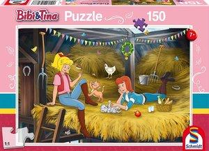 Schmidt 56188 - Bibi und Tina, Auf Heuboden Puzzles, 150 Teile
