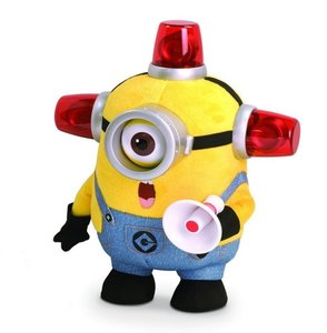Minions - Bee-Do Fireman, Plüschfigur mit Sound, ca. 25 cm