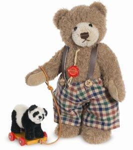 Teddy Hermann 17041 - Teddybär Sigi mit Panda, 30 cm