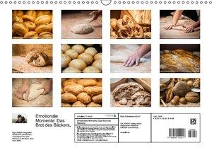 Emotionale Momente: Das Brot des Bäckers. (Wandkalender 2016 DIN