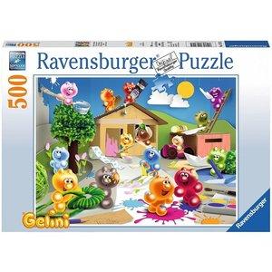 Ravensburger 14720 - GELINI, Fröhliche Bastelrunde Puzzle, 500 T