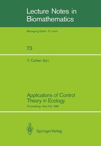 Applications of Control Theory in Ecology