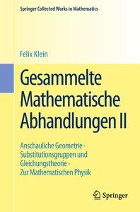 Gesammelte Mathematische Abhandlungen II