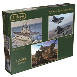 Falcon By Sea, Land and Air. Puzzle 3 x 500 Teile