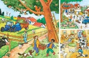 Ravensburger 09261 - Lebendiger Bauernhof, 3 x 49 Teile Puzzle