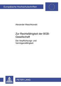 Zur Rechtsfähigkeit der BGB-Gesellschaft