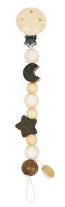 Goki 733700 - Schnullerkette Mond und Stern, Holz