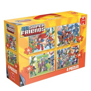 Super Friends 4in1 Puzzle - 16/24/35/50 Teile