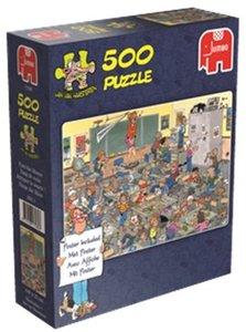 Jan van Haasteren - Fang die Maus - 500 Teile mit Poster
