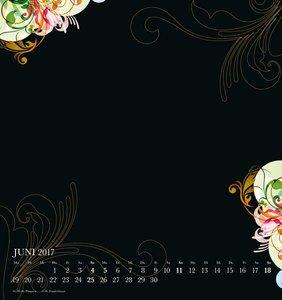 Premium FOTO Kalender 2017 Floral Black - Kalender 2017