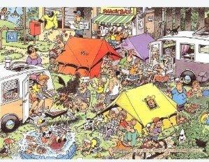 Jumbo Spiele 17219 - Jan van Haasteren: Campingplatz, 150 Teile