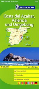 Michelin Zoomkarte Costa del Azahar, Valencia und Umgebung 1 : 1
