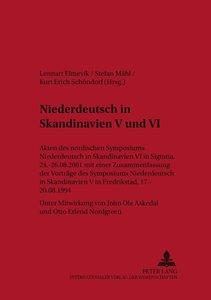 Niederdeutsch in Skandinavien V und VI