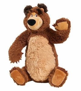 Simba 109309893 - Mascha und der Bär, Plüschbär mit beweglichen