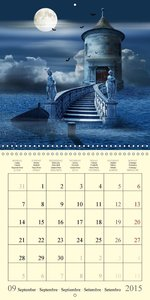 Fantasy World Mausopardia (Wall Calendar 2015 300 × 300 mm Squar