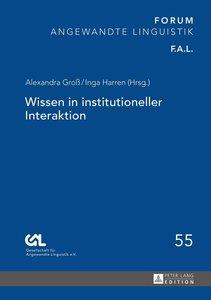 Wissen in institutioneller Interaktion