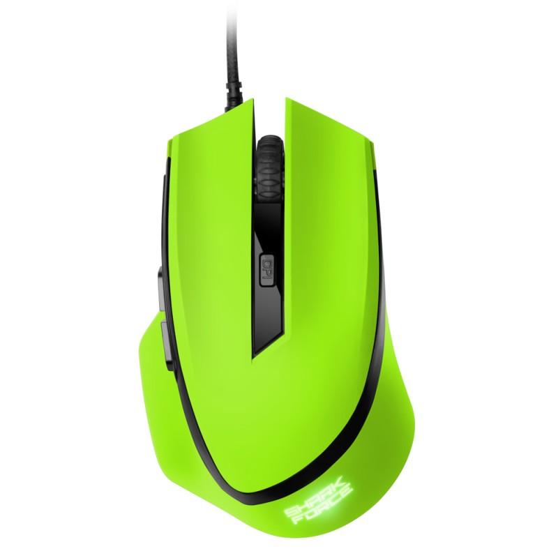 Sharkoon SHARK Force - Gaming Mouse - Grün - zum Schließen ins Bild klicken