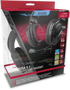 Speedlink MEDUSA 5.1 True Surround Headset - USB, schwarz