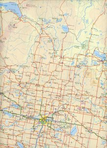 Alberta / British ColumbiaTravel Road Map 1 : 1 000 000