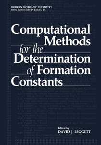 Computational Methods for the Determination of Formation Constan