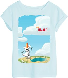 Disney Eiskönigin - Olaf - T-Shirt - Blau - Größe 5-6 Jahre