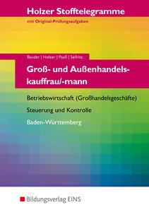 Stofftelegramm Groß- und Außenhandelskauffrau/mann. Baden-Württe