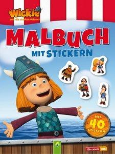 Wickie und die starken Männer - Malbuch mit 40 Stickern