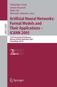 Artificial Neural Networks: Formal Models and Their Applications