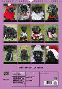 Poodles en vogue / UK-Version (Wall Calendar 2015 DIN A3 Portrai