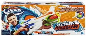 Hasbro A4836E24 - Super Soaker Tri Strike Crossbow, Armbrust