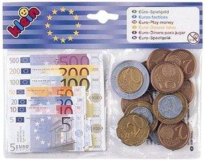 Theo Klein 9612 - Spielgeld Euro, 25 Münzen und 35 Scheine