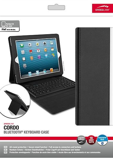 Speedlink SL-7164-BK CORDO Bluetooth Keyboard Case - Tasche mit - zum Schließen ins Bild klicken
