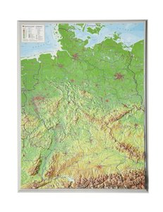 Reliefkarte Deutschland klein 1 : 2 400 000