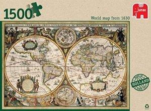 Weltkarte 1630 - 1500 Teile