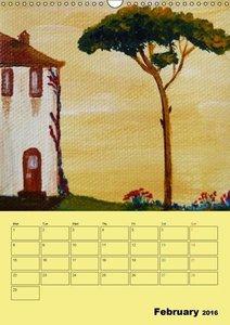 Beautiful Tuscany (UK-Version) (Wall Calendar 2016 DIN A3 Portra