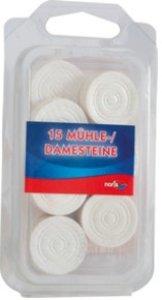 Noris 606151042 - Dame & Mühlesteine, Holz weiß