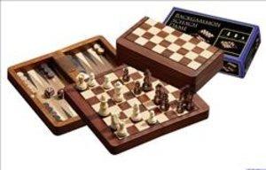 Philos 2517 - Reise-Schach-Backgammon-Dame-Set