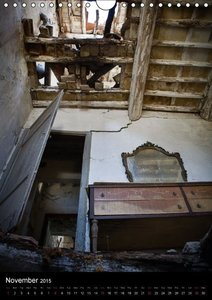 Interiors- the charm of abandoned places / UK-Version (Wall Cale