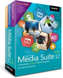 Cyberlink Media Suite 12 Ultra. Für Windows XP/Vista/7/8/8.1