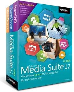 Cyberlink Media Suite 12 Ultra. Für Windows XP/Vista/7/8/8.1