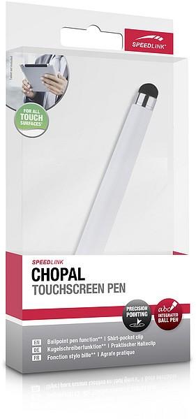 SPEEDLINK CHOPAL Touchscreen Pen, matt weiss - zum Schließen ins Bild klicken