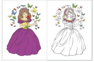 Glitzermalbuch Feen und Prinzessinnen