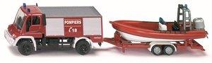 SIKU 1636 - Unimog Feuerwehr mit Boot