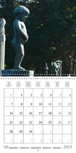 Vigeland Sculpture Park Oslo (Wall Calendar 2015 300 × 300 mm Sq