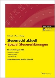 Steuerrecht aktuell Spezial Steuererklärungen 2015